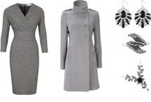 *GREY fashion* / Grey fashionable clothes. / by Cheri Rollo