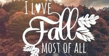 Fall ❤: my favorite season / Autumn....Fall... whatever you want to call it, this is my favorite season!!!! ❤❣❤❣❤❣❤❣