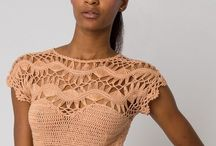Fashion Crochet / Tops, skirts, dresses, shawls, cardigans and more that are #fashion forward and #crochet or #knit