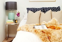 Bedroom / I like pops of color in random spots :) especially yellow and orange / by Kaylyn Leigh Braga
