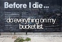 My bucket list!