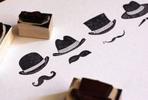 stamps / rubber, wood, inks and more.