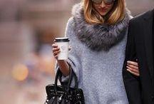 winter woolies / knits, leather, tartan / by Charlotte Ingram