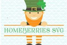 Homeberries SVG Cut Files St. Patrick's Day / Here's where you can see some of the St. Patrick's Day themed cut files that are available for purchase in my shop! SVG DXF EPS JPEG Cut Files for Cricut, Silhouette, Sure Cuts a Lot, Make the Cut and other diecutting machines.