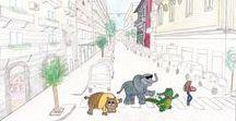Illustrazioni e disegni / Illustrazioni e Disegni per libri per bambini, tratti principalmente da tizianafazio.com