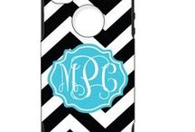 Monogrammed Cases for Iphone, Ipads and Computers / New a monogrammed cell phone case? Need a computer case for you laptop. We have pinned some of our favorites.