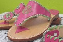 Shoes, Shoes, Shoes! / My weakness is shoes . I oh so love a monogrammed shoe!