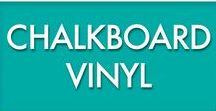 Chalkboard Vinyl / We love our chalkboard vinyl and so will you once you try it!