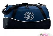 Sports Bags / Need to order your team bags? Need to have a logo and name. The Pink Monogram can take care of that for you with great prices and quotes.