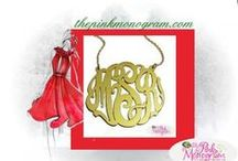 Monogrammed Jewelry / Monogrammed jewelry is what The Pink Monogram is know for. We have 100's of great necklaces, earrings, bracelets and rings.  Many of our designs are create by The Pink Monogram. The best place to find monogrammed jewelery.