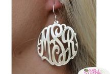 Earrings We Love / Earrings are one of my favorite accessories.  I love long dangle ones! Loads of stones and of course anything monogrammed.