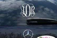 Personalize your car / Looking for monogrammed decals on the back of your car. We have some many great ideas for you.