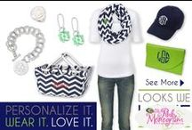 Looks we Love / We love to combine monograms and show you how to add them to your closet!