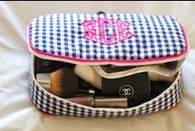 Monogrammed Travel Accessories / Travel bags we just love. These are our choices for makeup bags and weekender tote.