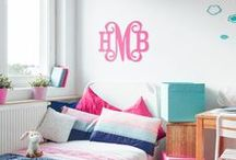 College Dorm Room Ideas / Need help getting the dorm room ready. We have great ideas for you wall and bedding. Just add a big monogram and you are set.