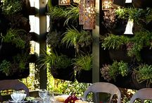 Vertical garden walls and planters