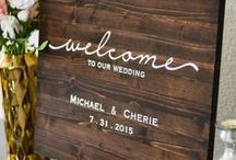 Welcome Signage / Wedding Welcome Signage