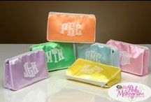 Monogrammed Cosmetic Bags / Great cosmetic bags are the perfect gift for graduation or bridesmaids gifts. We have 100's of styles to choose form. Let us help you design your perfect bag.