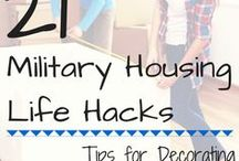 Military Home Hacks / Decorations with a Military flare and solutions to your decorating woes can be found here.  Let us know what works for you!