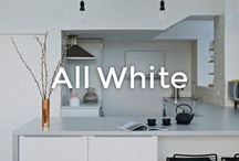 White-on-white-on-white | made.com / All white interiors. Clean, bold and bright white styles for your home. Featuring all white bathrooms, kitchens and bedrooms for a fresh, minimal style.