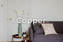 Copper and Rose Gold Décor | made.com / The copper trend is going nowhere. And for obvious reasons. Adding rosy warmth while maintaining an air of industrial cool, copper strikes that rare balance between glamorous and contemporary. A cosy alternative to the brushed stainless steel trend, copper is a great choice for any room. From statement pieces to more subtle accents and accessories, here's how to incorporate the metal-of-the-moment into your home.