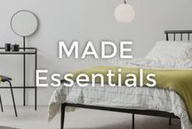 MADE Essentials | made.com / Just because you have expensive tastes, doesn't mean you have to go bankrupt. You can upgrade everything with designs from our MADE Essentials range. Check our latest drop for compact furniture, storage hacks and multifunctional pieces. With ever-low, affordable prices, get ready to save big.