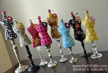 Art - Collage - Decorated Dress Forms