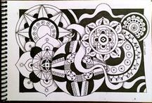 Zentangles and Doodles / Beauty with paper and a pen or two