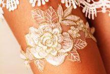 Wedding Garters / Wedding Garter - Bridal Garter - Garter Set - Wedding Garters - Handmade Garter Set