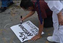 Ayotzinapa, la herida / #FotoZócalo Aniversario de la desaparición forzada de 43 estudianes de la Normal de maestros de Ayotzinapa. Sábado 26 de septiembre, 2015.