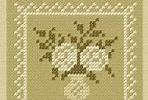 cross stitch ( flower, heart, others... )
