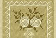 cross stitch ( flower, heart, others... )