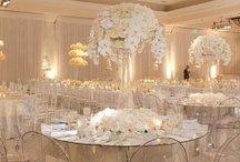 White Wedding Inspirations / Colors are great, but nothing is better than an elegant white affair!!!