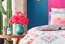 Bold Colour Inspiration / Filled with colour inspiration, this board features bright and bold shades of colour to inspire your home decor project - apartment, DIY, interior design, interior design ideas, rental decor, decorating on a budget, decor ideas, paint colours, living room, coffee tables, teal, couch, inspiration