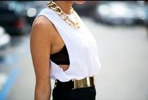 Black & Gold Style / Black & Gold looks that inspire us, and we hope inspire you too!