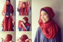 For the Love of Fashion: Hijab tutorials / The many ways one makes hijab their own. Twist and tuck, pins or no pins. So many styles. So many ways.