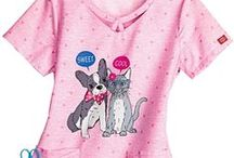 Veterinary Print Scrubs