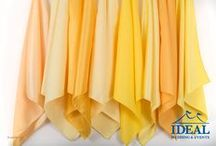 Yellow & Gold Linens / Yellow & Gold Linens available in a variety of sizes and material options from Ideal Wedding and Events.