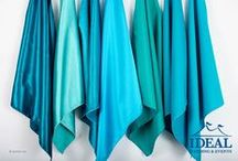 Aqua Linens / Aqua Linens available in a variety of sizes and material options from Ideal Wedding and Events.