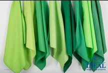 Green Linens / Green Linens available in a variety of sizes and material options from Ideal Wedding and Events.
