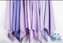 Purple Linens / Purple Linens available in a variety of sizes and material options from Ideal Wedding and Events.