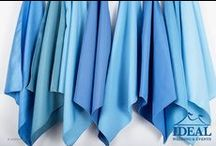 Blue Linens / Blue Linens available in a variety of sizes and material options from Ideal Wedding and Events.