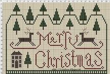 Cross stitch pattern ( winter, christmas )