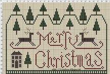 Cross stitch pattern ( winter, christmas )