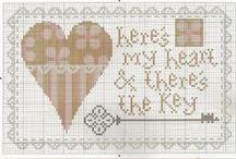 Cross stitch ( fleur de lis, crown, key ) / cross stitch