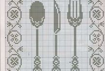 Cross stitch ( coffee, tea, kitchen) / cross stitch
