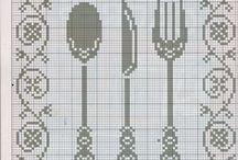 Cross stitch ( coffee, tea, kitchen) / cross stitch