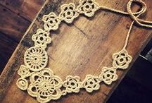 crochet, knitted jewelry, accessories, ideas