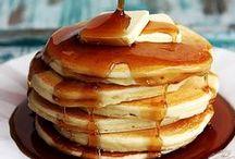Breakfast Recipes / oats | easy | pancakes | brunch | eggs | bacon