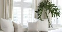 Window Dressing Ideas / A board dedicated to window dressing, from plantation shutters to curtains, blinds, window transfers and many more window ideas - apartment, DIY, interior design, interior design ideas, rental decor, decorating on a budget, decor ideas, bay, unusual, cottage, shabby chic, simple, landing, voile, kitchen, modern, French doors, privacy